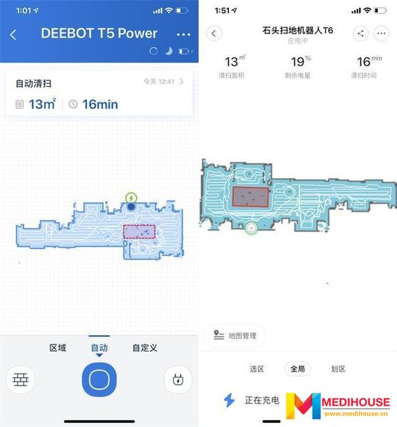 So sánh các dòng robot hút bụi nổi bật Ecovacs Deebot T5 HERO và Xiaomi Roborock Gen 3